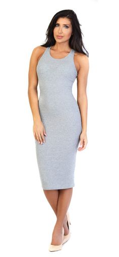 Simple yet stylish this jersey bodycon dress needs nothing more than a pair of high heels. 98% Cotton, 2% Elastane Model is wearing size XSmall