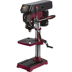 Drill Press Vise, Drill Press Stand, Industrial Power Tools, Industrial Bench, Grizzly Drill Press, Router Table Reviews, Workbench Clamp, Diy Log Cabin, Dremel Drill