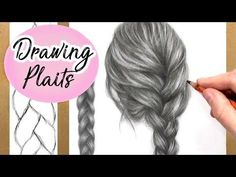 How To Draw A Plait / Braid: Hair Drawing Tutorial | Step by Step - YouTube