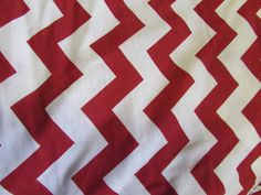Chevron Samba Red  on White Cotton Jersey Blend by annabannacrafts, $8.99