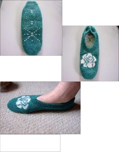Double Knit Slipper Sock-  A bunch of pictures and tutorials included within the pattern.  Awesome!