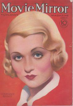 Constance Bennett on the March 1932 Movie Mirror
