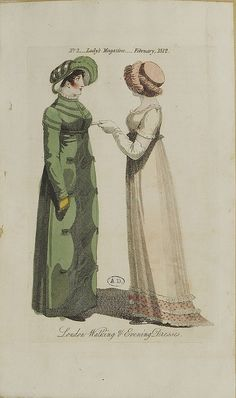 A green pelisse, 1812 lady's magazine