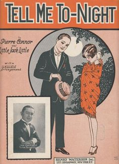 Tell Me To-Night 1926 Sheet Music Pierre Connor Little Jack Little Barbelle