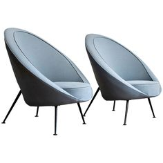 Rare Pair of 813 'Egg' Lounge Chairs by Ico & Luisa Parisi designed in 1951, produced by Cassina
