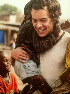 Used his fame to promote a good cause in Africa - tell me again why he isn't a good person? Harry Styles ~