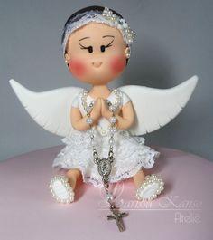 Boneca para Batizado  by Larissa Kanso