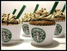 Starbucks Mocha Cupcakes Recipe! http://www.spendwithpennies.com/starbucks-mocha-cupcakes-recipe/#comment-11581