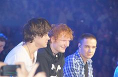 one direction and ed sheeran at msg singing little things together <3