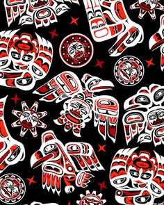 Native Spirit - Pacific Northwest Birds-Quilt Fabrics from www.eQuilter.com