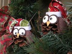 Pine Cone Owl Ornaments - Bing Images