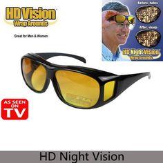 f82c80cd4374 HD vision night driving glasses Sunglasses Men Car Driving Goggles Eyewear  UV Protection Unisex Men Women. Yesterday s price  US  3.17 (2.83 EUR).