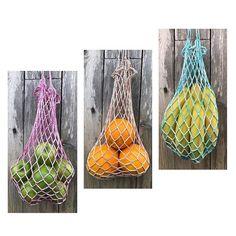 Crocheted Fruit bags 🍏🍊🍌 Pattern in my blog.