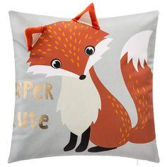Poduszka dla dziecka, motyw liska, 40 x 40 cm lis Decoration Originale, Pikachu, Homemade, Throw Pillows, Baby, Character, Polyester, Dimensions, Products