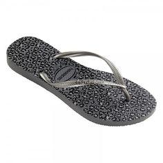 3ae954891952 Havaianas Slim Animal-Print Flip-Flops Grey Flip Flops