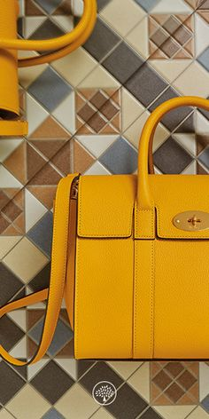 a6527fe2a8 Shop the New Small Bayswater in Canary Small Classic Grain Leather at  Mulberry.com.