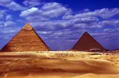Egypt.  The great Pyramids of Giza.