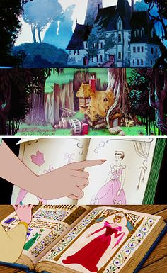 Cinderella vs. Sleeping Beauty 5:    It's a shame we don't get to see Cinderella's house more; it's pretty. And Aurora's is so charming.