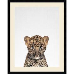 Framed Art Print 'Leopard' by Tai Prints 23 x 29-inch