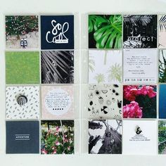 POCKET SCRAPBOOK LAYOUT ~ Love this simple layout.