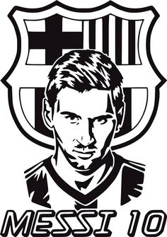 Messi 10, Joker Stencil, Stencil Art, Stencils, Barcelona Fc Logo, Lionel Messi Barcelona, Messi Drawing, Batman Silhouette, Black And White Art Drawing