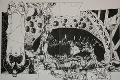 Rise of Apocalypse #4 double page spread Origin story comic art by Adam Pollina