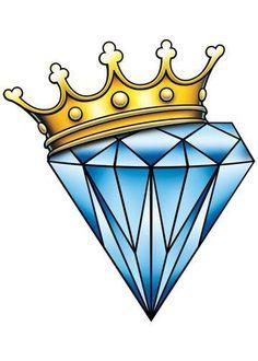 Diamond Crown-Just 4 Girls Temporary Tattoo - Products - Tattoo Diamond Crown Tattoo, Diamond Tattoo Designs, Crown Tattoo Design, Diamond Drawing, Star Tattoo Designs, Diamond Tattoos, Diamond Rings, Graffiti Lettering, Graffiti Art