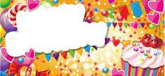 etiquettes,pancartes,tubes,scrap Blank Sign, Etiquette, Sprinkles, Happy Birthday, Create, Frames, Cards, Blog, Scrap