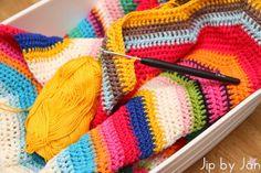 Update work in progress: Zigzag dekentje haken Jip by Jan Ripple stitch blanket crochet