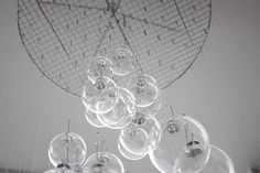 An ornament mobile! I am making this on a smaller scale. It's going to hang over my table and it will be beautiful.