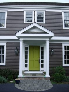 colors on a white house with dark gray trim to make a front door pop - Yahoo Search Results