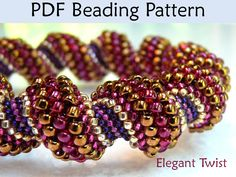 PDF Jewelry Pattern Cellini Spiral Tubular by SimpleBeadPatterns, $8.00
