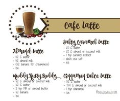 Cafe Latte Shakeology Recipes 21 Day Fix or Extreme use Water only. Herbalife Shake Recipes, Protein Shake Recipes, Smoothie Recipes, Protein Shakes, Healthy Shakes, Herbalife Nutrition, Salad Recipes, Shakeology Shakes, Beachbody Shakeology