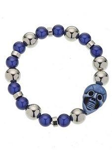 Anna Biblò Bracciale Happy Skull blu