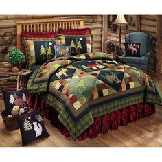 Timberline Multicolor Twin Quilt C & F Enterprises, Inc. Quilt Quilts & Bedspreads