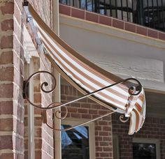 Bistro Awning Mini Tutorial Made Home Awnings Diy Awning Shop Awning Window Awnings