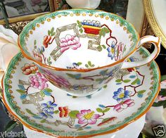 Hammersley Tea Cup and Saucer Oriental Older Design