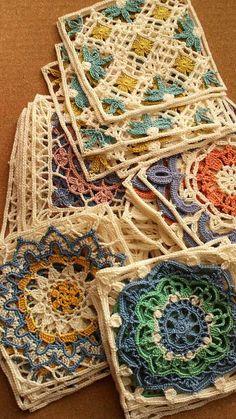 Transcendent Crochet a Solid Granny Square Ideas. Inconceivable Crochet a Solid Granny Square Ideas. Motifs Granny Square, Crochet Square Patterns, Crochet Motifs, Crochet Blocks, Crochet Squares, Crochet Designs, Crochet Stitches, Knitting Patterns, Beau Crochet