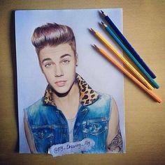 Justin Bieber draw | via Facebook