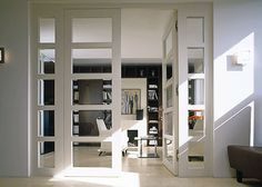Custom interior doors, contemporary interior doors, sliding french doors, m Interior Sliding Glass Doors, Custom Interior Doors, Sliding French Doors, Interior Shutters, Interior Barn Doors, Double Doors, Exterior Doors, Room Interior, Door Curtains Designs