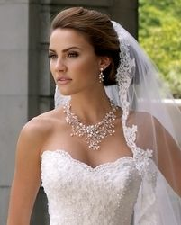 Best Seller! Dramatic Freshwater Pearl and Crystal Wedding Jewelry Set www.affordableelegancebridal.com