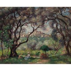 Espagnat, Georges d', (1870-1950), Vue de Cagnes, 1904