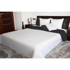 Obojstranná prikrývka na posteľ v bielo čiernej farbe