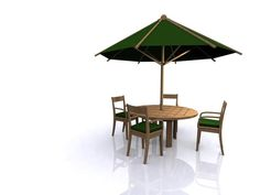 garden furniture set table chairs 3d model 3d model - Garden Furniture 3d Model