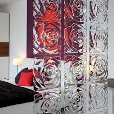 Raumteiler Romance transparent rot