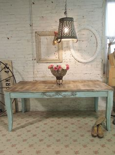 Painted Cottage Chic Farmhouse table