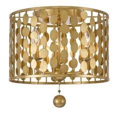 Material: Steel Finish: Antique Gold 15x15 $495