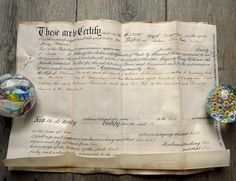 Antique  English certificate and deed on parchment by MaisonMaudie