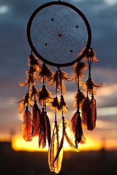 Dream Catcher in front of the Sunset
