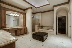 Plenty of space in this lovely master bath